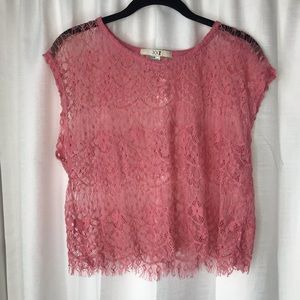 Forever 21 Pink Crochet Top